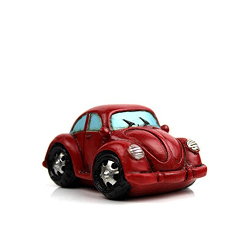 Creative Gifts Resinous Small Ornaments Vintage Car Model(Red 6.5cm)