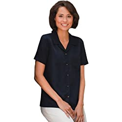 Bill Blass Ladies' Solid Color Sanded Camp Shirt