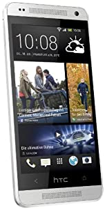 HTC One Mini Smartphone (10,9 cm (4,3 Zoll) LCD-Display, 1,4GHz, Dual-Core, 1GB RAM, Ultrapixel Kamera, Android 4.2) silber