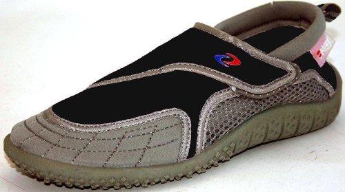 Aquatik Men and Women Aqua Water Shoes Beach Shoes Women 5 Black Grey