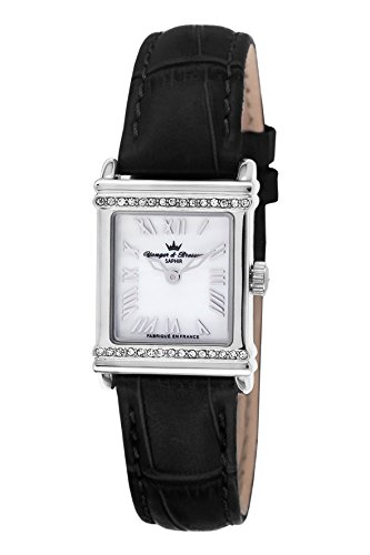 Yonger & Bresson - DCC 1695-02 - Ladies Watch - Analogue Quartz - Mother of Pearl Dial Black Leather Strap
