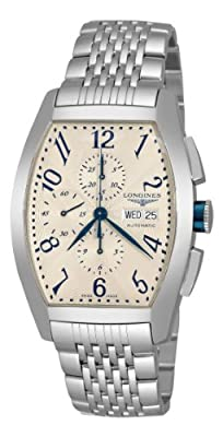 Longines Men's L27014786 Evidenze Silver Chronograph Dial Watch from Longines