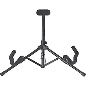 Fender Tubular Acoustic and Electric Mini Guitar Stand, Black