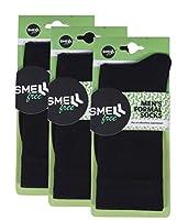 Smell Free Organic Cotton & Bamboo Men's Formal Crew Length Socks (Black) - Pack of 3
