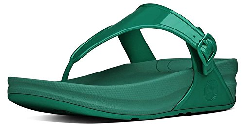FitFlop Womens Superjelly Sandal Grass Green Size 9