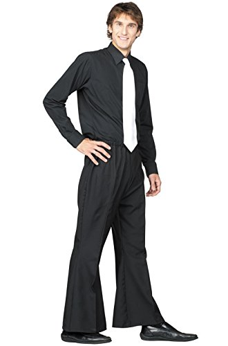 RG_COSTUMES Unisex Adult 70's Bell Btm Pants-whilte Sol - - 85174-W-XL