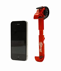 Gosmart Clip - Universal iPhone/Smartphone Holder - The Most Convenient, Compact and Versatile Holder/Mount/Clip (1 Red Clip)