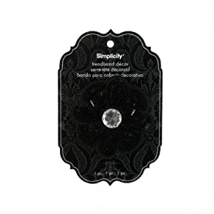 Simplicity Headband Decor Flower Sequin Black