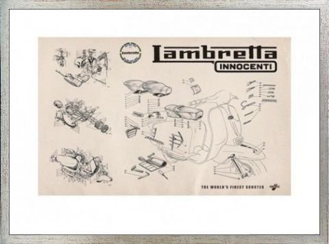 Line Drawing Posters Lambretta Line Drawing