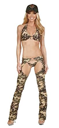 Amazon.com: Nom de Plume, Inc Sexy Stretch Lycra Army 4PC