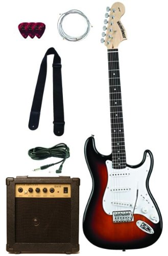 Fender Starcaster Start Electric Guitar Starter Pack, Sunburst
