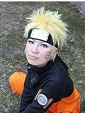 Naruto★ナルト 風 コスプレウィッグ +ウイッグネット