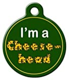 Cheesehead - Green Bay Packers - Custom Pet ID Tag for Dogs and Cats - Dog Tag Art - LARGE SIZE
