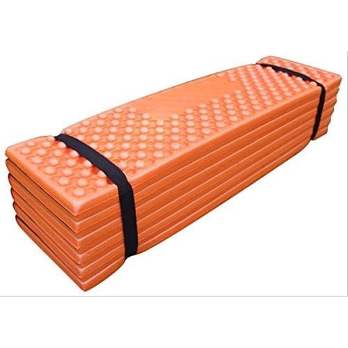 Aoakua 軽量 折りたたみ 凹凸 クッション フォームマット 56×180cm 収納袋付 (オレンジ)