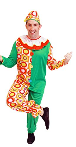 Treasure-box Funny Green Adult Clown Costume Halloween