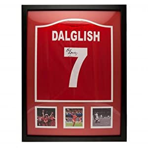 Liverpool F.C. Dalglish Signed Shirt (Framed)- Kenny Dalglish replica 1986 Double Winners Liverpool shirt- hand signed on the number- photographic certificate of authenticity- fully framed for display- approx 86cm x 66cm- official licensed product by Sign