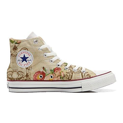 Converse All Star Hi chaussures coutume (produit artisanal) Floral Vintage
