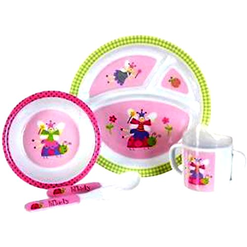 Baby Essentials Ladybug 5-pc. Feeding Set PNK/MULTI