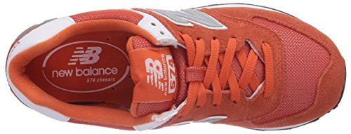 888546369627 - New Balance Men's ML574 Picnic Pack Collection Classic Running Shoe, Orange/Silver, 7 D US carousel main 7