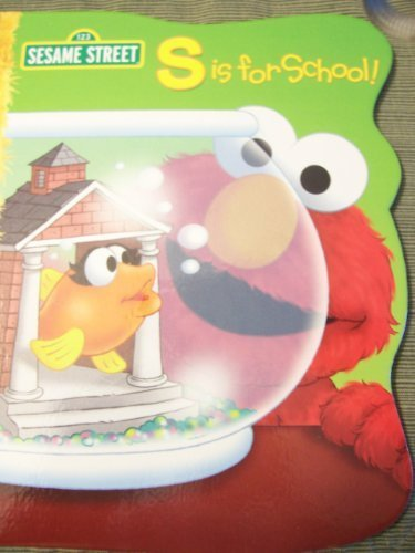 Sesame Street Elmo's S is for School (Shaped Hardcover Book) (2011) - 1