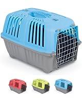 Trasportino Pratiko Metal - Accessorio da viaggio in due misure, con porta metallica, per cani e gatti