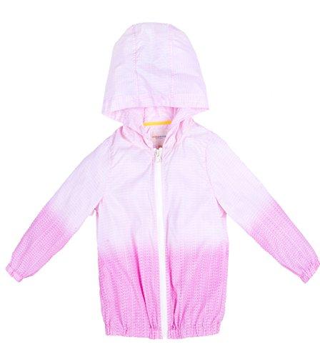 Oceankids Giubbotto leggero elasticizzato con cappuccio, rosa da bambino e bambina 7-8 Anni