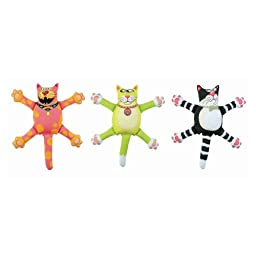 FAT CAT Assorted Mini Bossy Cats Dog Toy Sold in packs of 3