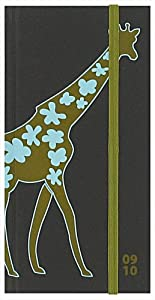 Letts Academic Diary 09-10 Giraffe 18 Month Slim Week to View Green