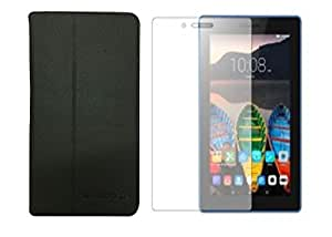 Colorcase Combo Set of Flip Cover with Clear Screenguard for Lenovo Tab 3 (7.0'')