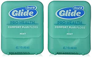 Oral-B Glide Pro-Health Comfort Plus Mint Flavor Floss Twin Pack 80 M
