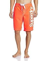 Superdry Men's Synthetic Shorts (5054265254598_M30MP021F4_Large_Havana Orange)