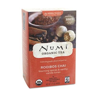 """Numi - 4 Pack - Organic Teas And Teasans 1.71Oz Rooibos Chai 18/Box """"Product Category: Breakroom And Janitorial/Beverages & Snack Foods"""""""