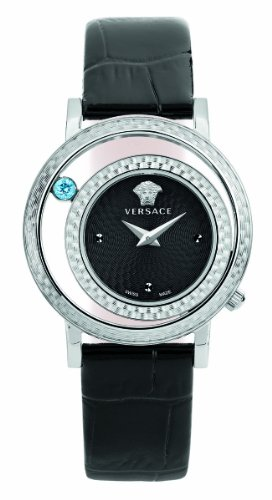 Versace-Womens-VDA010014-Venus-Stainless-Steel-and-Topaz-Watch