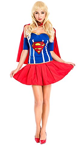 Ace Halloween Adult Women's Sexy Superwoman Supergirl Costumes