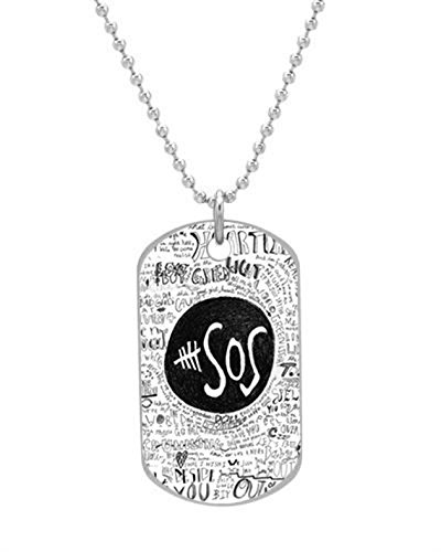 5sos lyrics on Pinterest Dog Tag (Bigger Size) Pet Tag Neck Chain Key Chain Aluminum Dog Tag Dimensions 1.3X2.2X0.1 inches ,Comes with 30″ inches beads chain