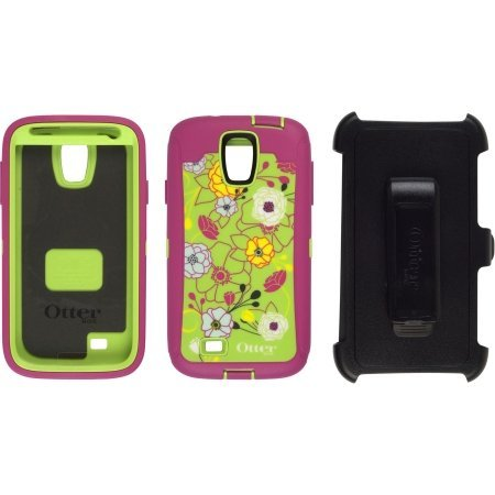 Otterbox Defender Series Case for Samsung Galaxy S4 – AT&T Retail Packaging – 77-27746 EDEN – Pink/Green Floral Flowers
