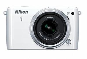 Nikon 1 S1 10.1 MP HD Digital Camera with 11-27.5mm VR 1 NIKKOR Lens (White)