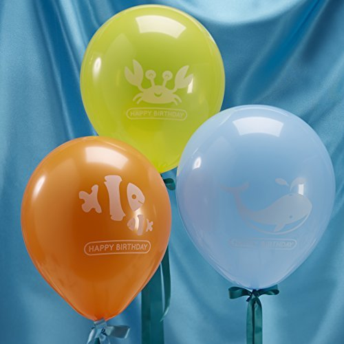 Ginger Ray Happy Birthday Sea Themed Party Balloons - Under The Sea