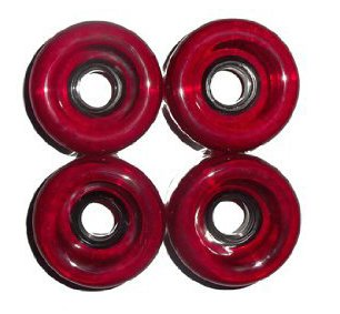 4 Black And/Or Red Pro Longboard Wheels 70mm 80a Skateboard Deck (1 set) (Red) (Cheap Skateboard Wheels compare prices)