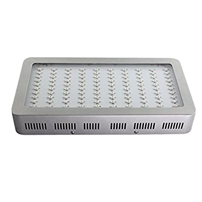 HHE 300w LED Grow Light Full Spectrum for Indoor Plant Growing with three cooling fans -Silver