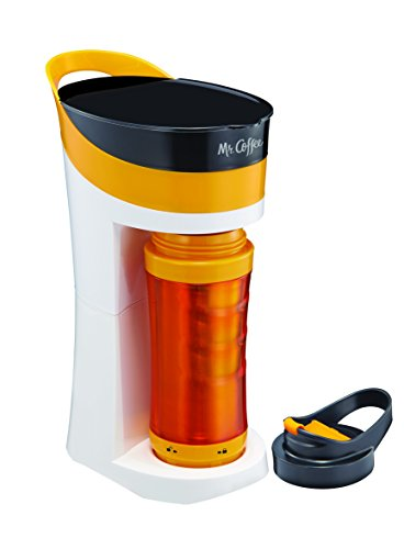 Mr Coffee Frozen Coffee Maker : Mr. Coffee Pour! Brew! Go! 16-Ounce Personal Coffee Maker with Insulated TO-GO mug, Tangerine ...