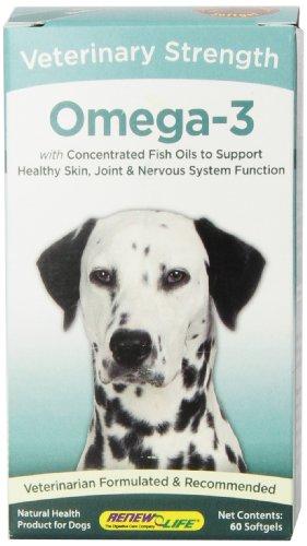 Renew Life Veterinary Strength Omega-3 Gel Capsules, 60 Count