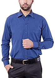 Tag & Trend Mens Slim Fit Formal Wear SAPPHIRE BLUE Shirt by TRADIX INNOVATIONS (Size- 44 XXL)