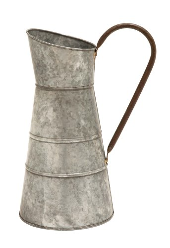 Deco 79 Metal Galvanized Watering Jug, 10 by 16-Inch 0