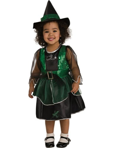 Wizard Of Oz Wicked Witch Kids Costume Sm 4-6 Kids Girls Costume