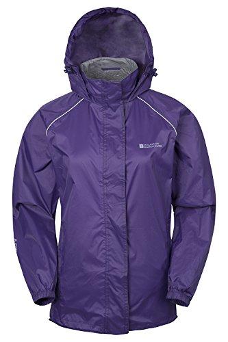 Mountain Warehouse Damen Pakka Leicht Wasserdichte Versiegelte Nähte Regenschutz Jacke Mantel Neu Violett DE 42 (EU 44)