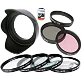 Big Mike'S 77Mm Multi-Coated 7 Piece Filter Set Includes 3 Pc Filter Kit (Uv-Cpl-Fld-) And 4 Pc Close Up Filter Set (+1+2+4+10) For Canon Ef-S 10-22Mm F/3.5-4.5 Usm Slr Lens + Cap Keeper + Microfiber Cleaning Cloth + Lcd Screen Protectors