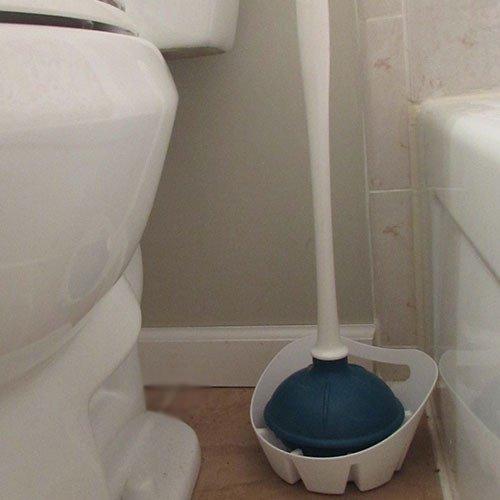 kleen freak antibacterial toilet plunger with holder advanced germ guard maximum plunging. Black Bedroom Furniture Sets. Home Design Ideas