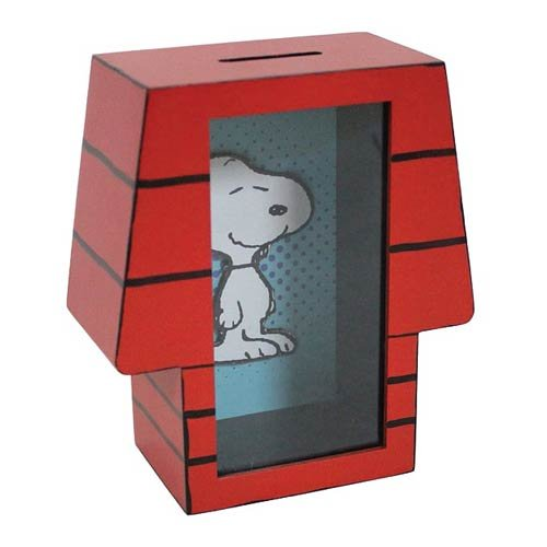 Westland Giftware MDF Shadowbox Bank, Peanuts Snoopy's House