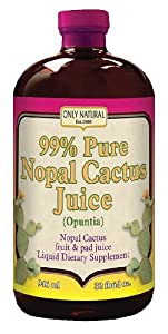 Only Natural Nopal Cactus Juice Supplement, 32 Ounce